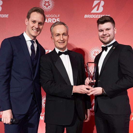 Liam, 23, is England Golf's Young Ambassador of the Year