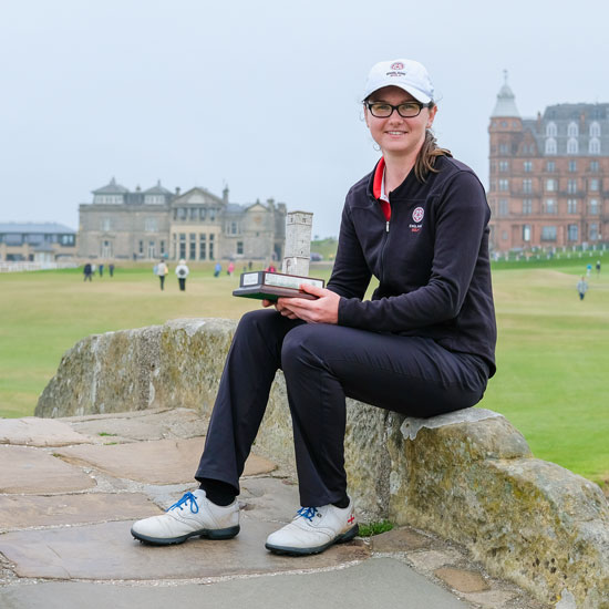 Lianna brings the St Rule Trophy back to England