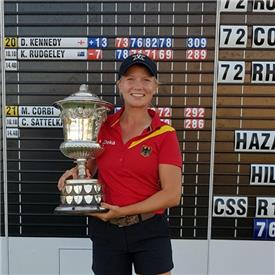 Germany's Celina wins the English girls on 10-under