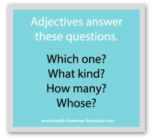 What Are the Adjective Questions?