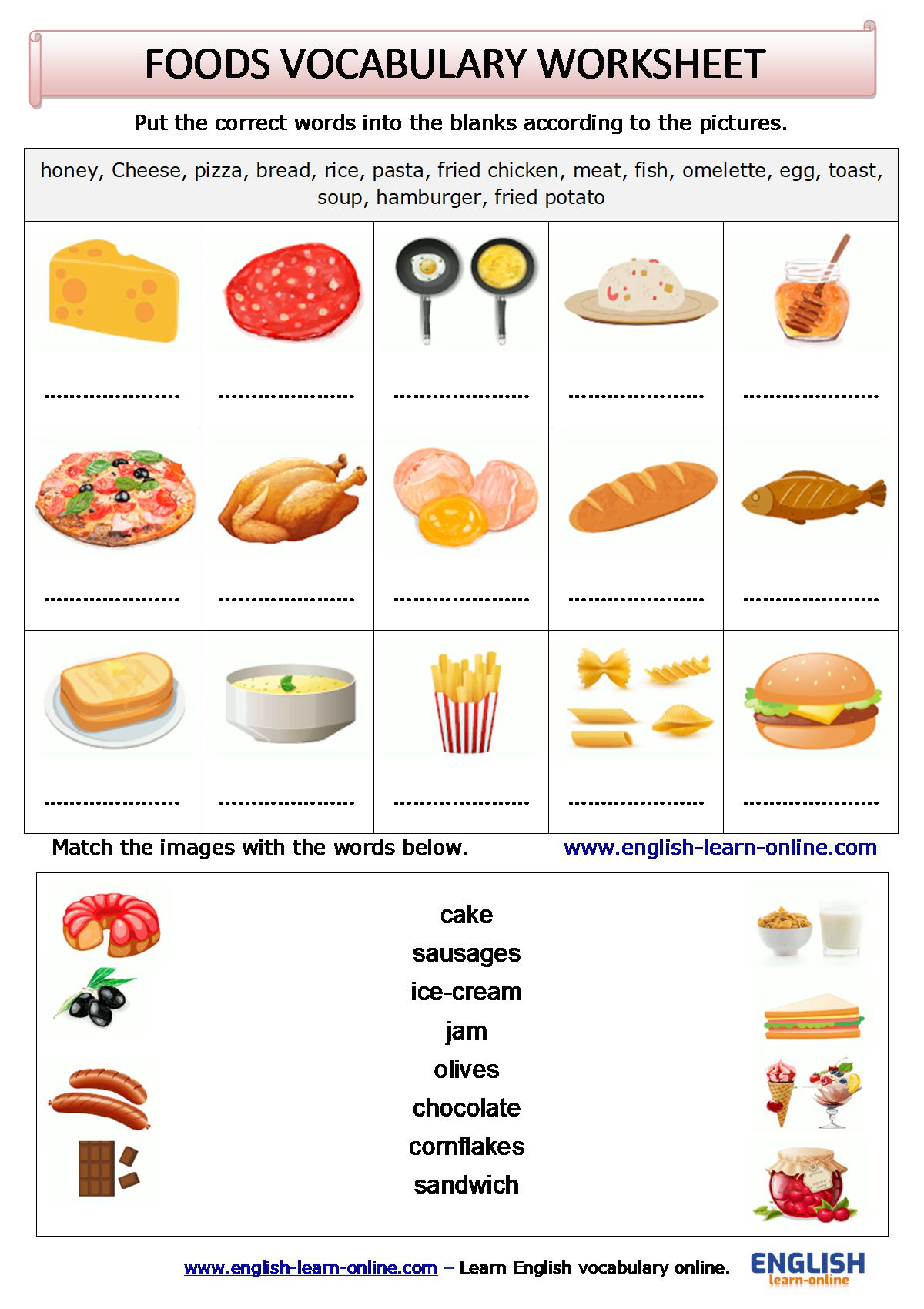 Cooking Verbs Esl Vocabulary Worksheets