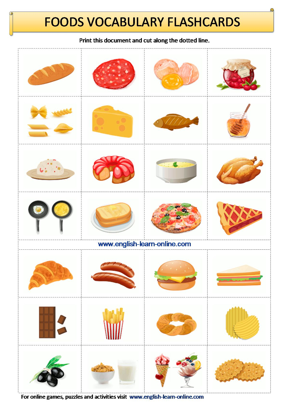 Food Vocabulary In English