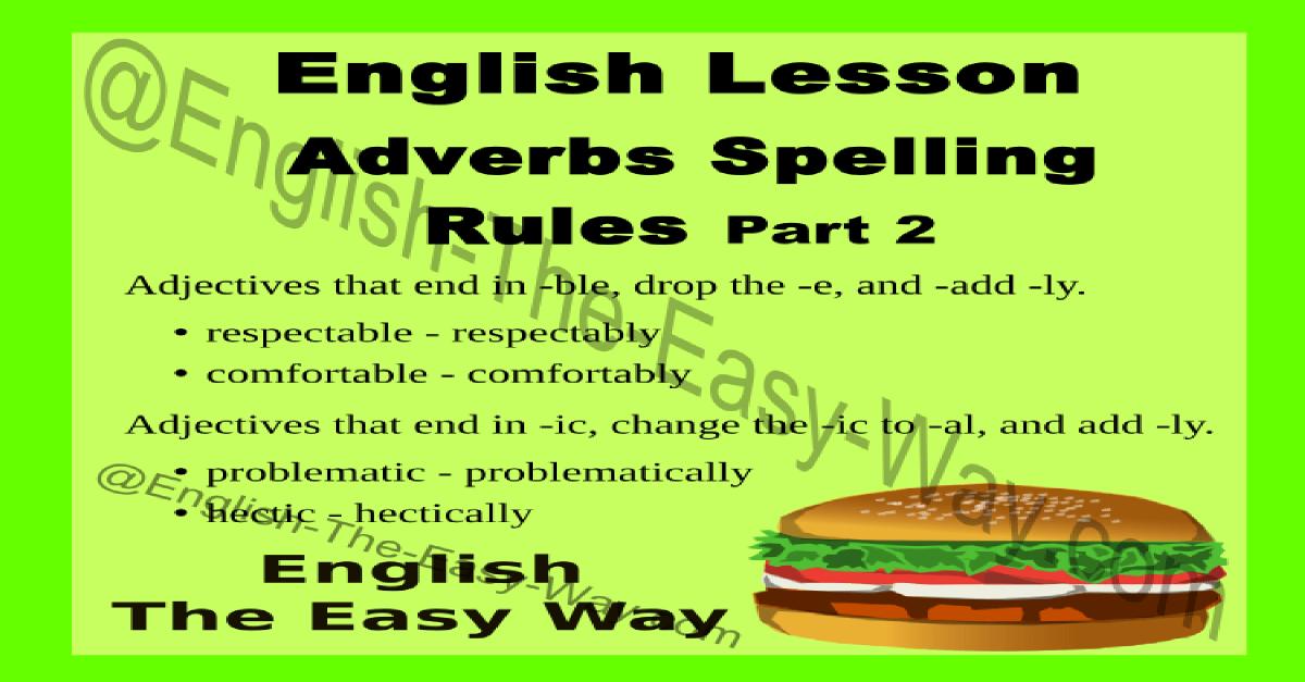 adverbs grammar the easy way