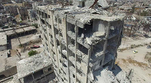 Destruction in Syria's Aleppo
