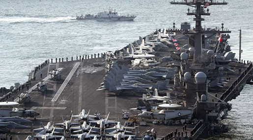 US-North Korea Tensions: North Threatens to Sink US Aircraft Carrier