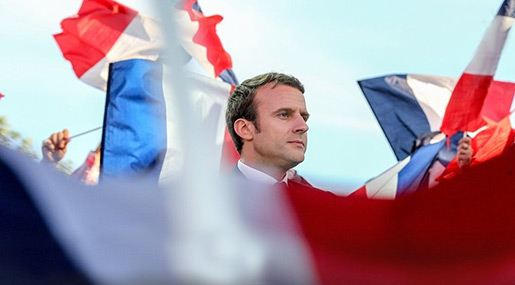 French Presidential candidate Emanuel Macron