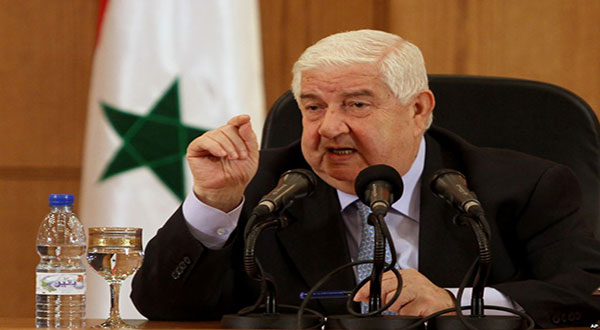 Al-Moallem: Syrian Gov't Keen on Stopping the Bloodshed, Improving Living Conditions