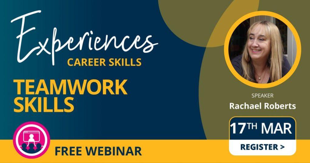 Career skills webinar with Rachael Roberts