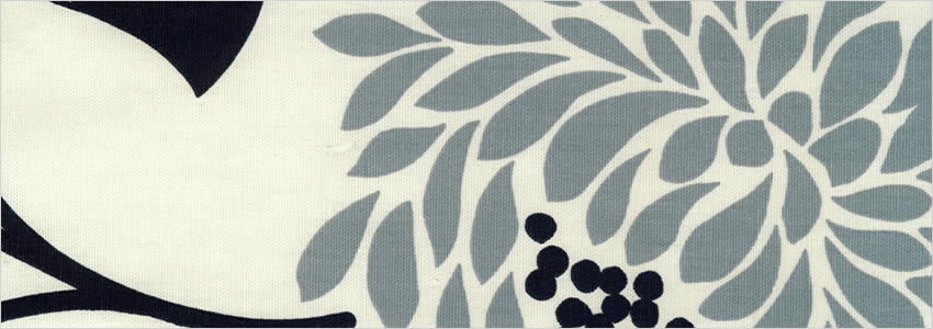 Modern Flowers Printed Grey Black Amp White Contemporary Curtains