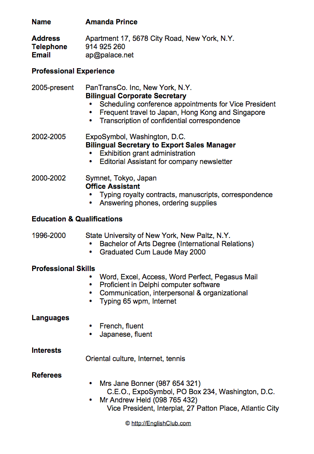 Example Secretary Resume. Legal Secretary Resume Samples Visualcv