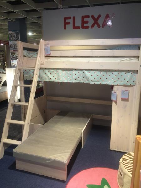 Kids Bed Flexa Top Bunk With Couch Underneath English