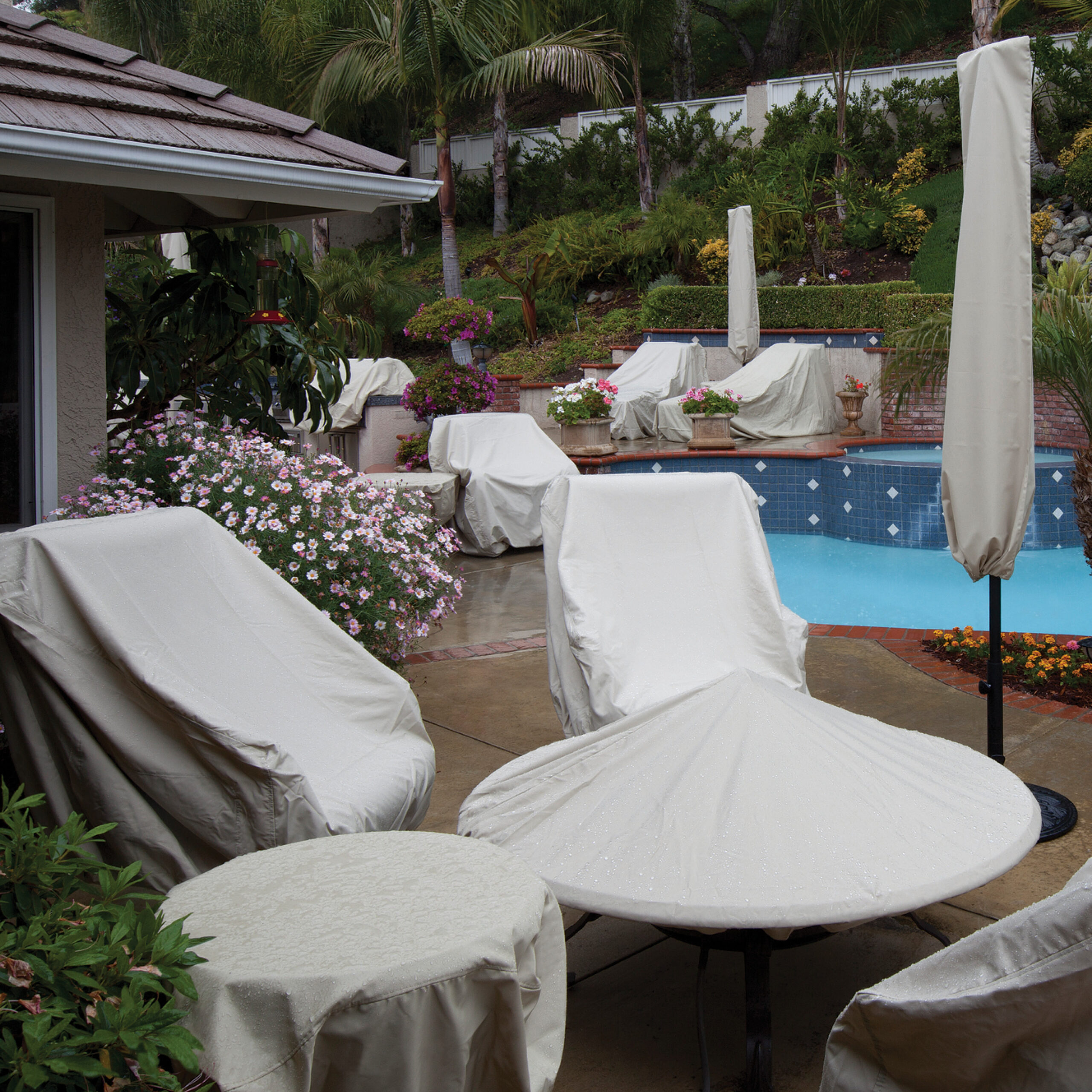 treasure garden protective furniture cover for large lounge chairs