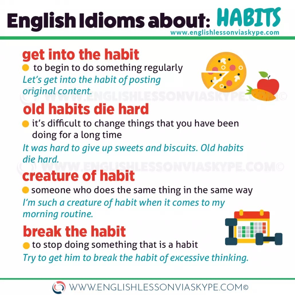 English Idioms Related To Habits