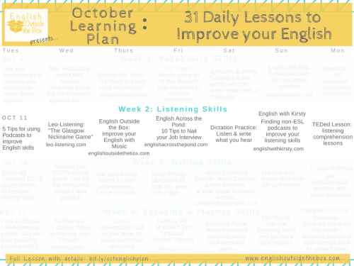 1 Daily lessons to Improve English Fluency   Learn English Online with English Outside the Box   Listening