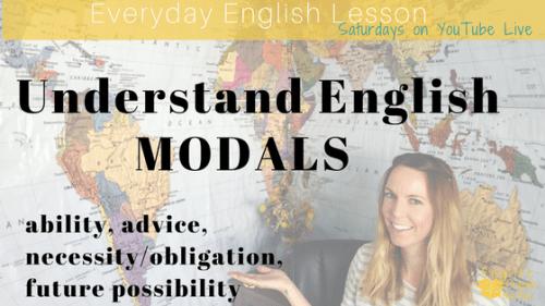 Understand English modals