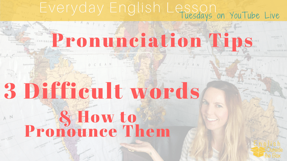 english pronunciation tips