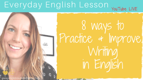 practice and improve writing in english