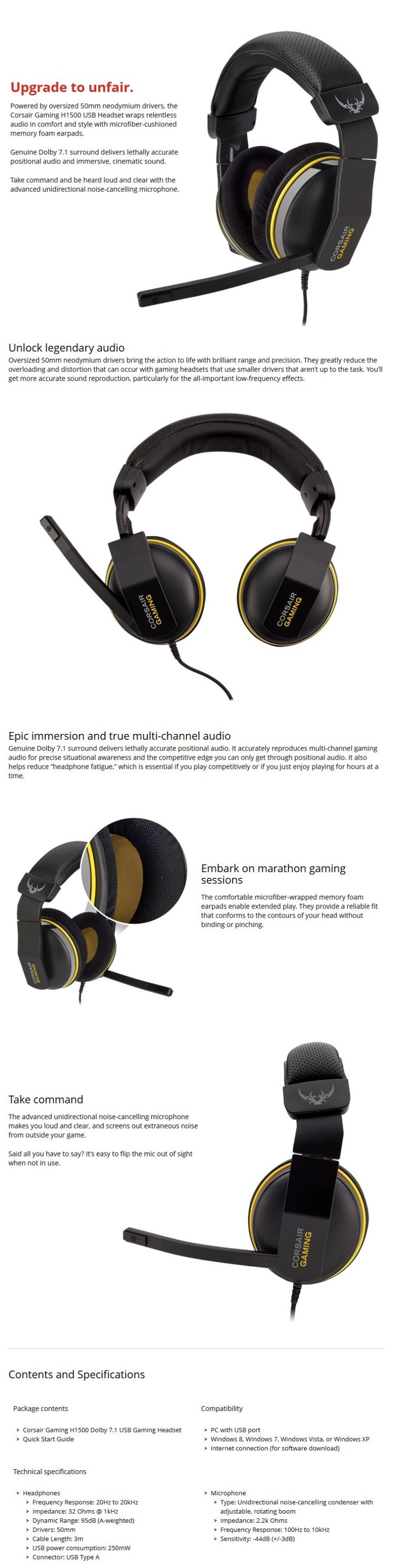 1fe6a5ed558 Related. Corsair Gaming H2100 Wireless Dolby® 7.1 Gaming HeadsetMarch ...