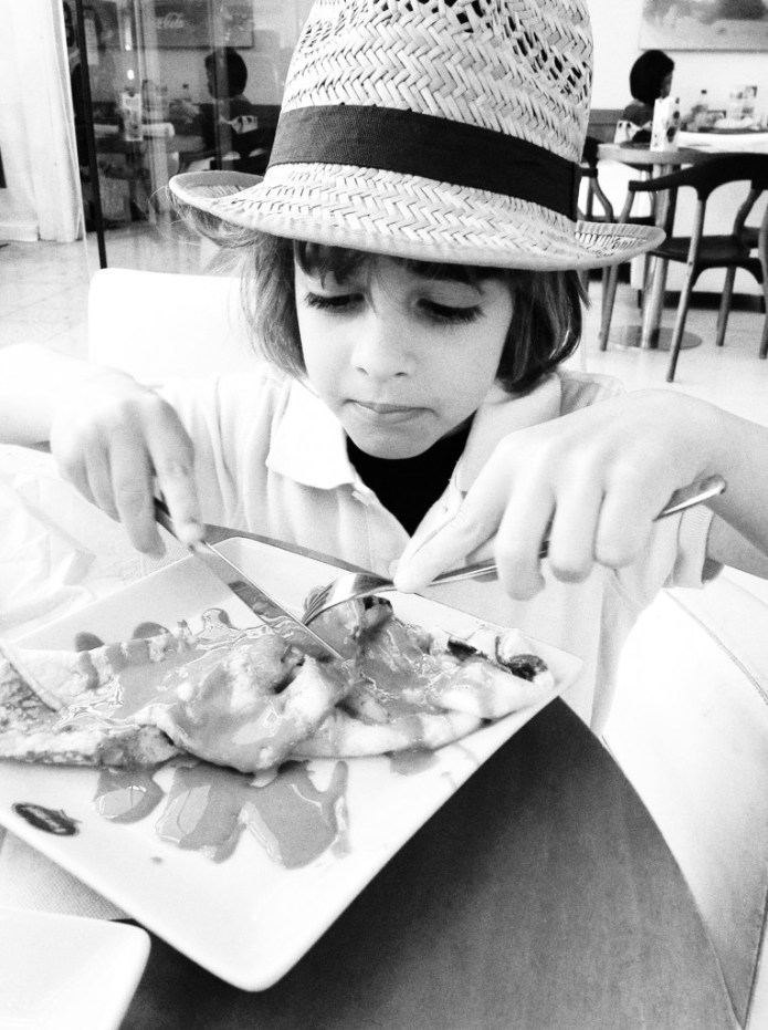 English Photographer: Boy with Crepe
