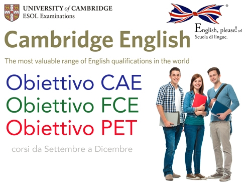 Obiettivo PET, FCE, CAE & CPE