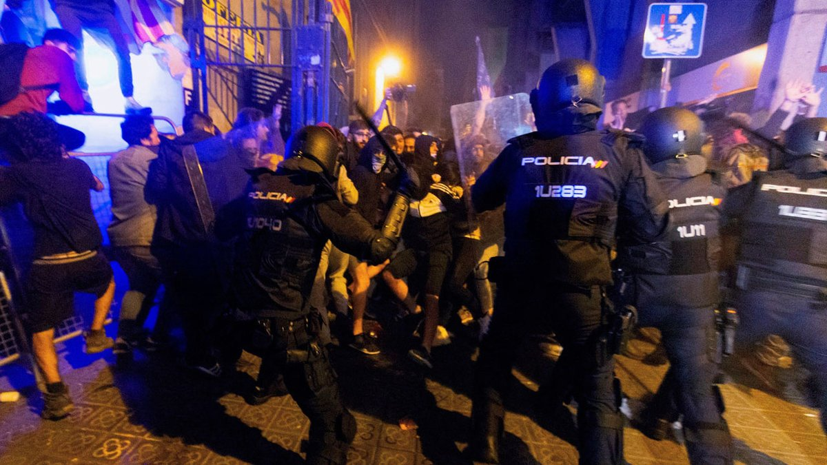 Policia Nacional announce reinforcements to Catalonia ahead of the weekend