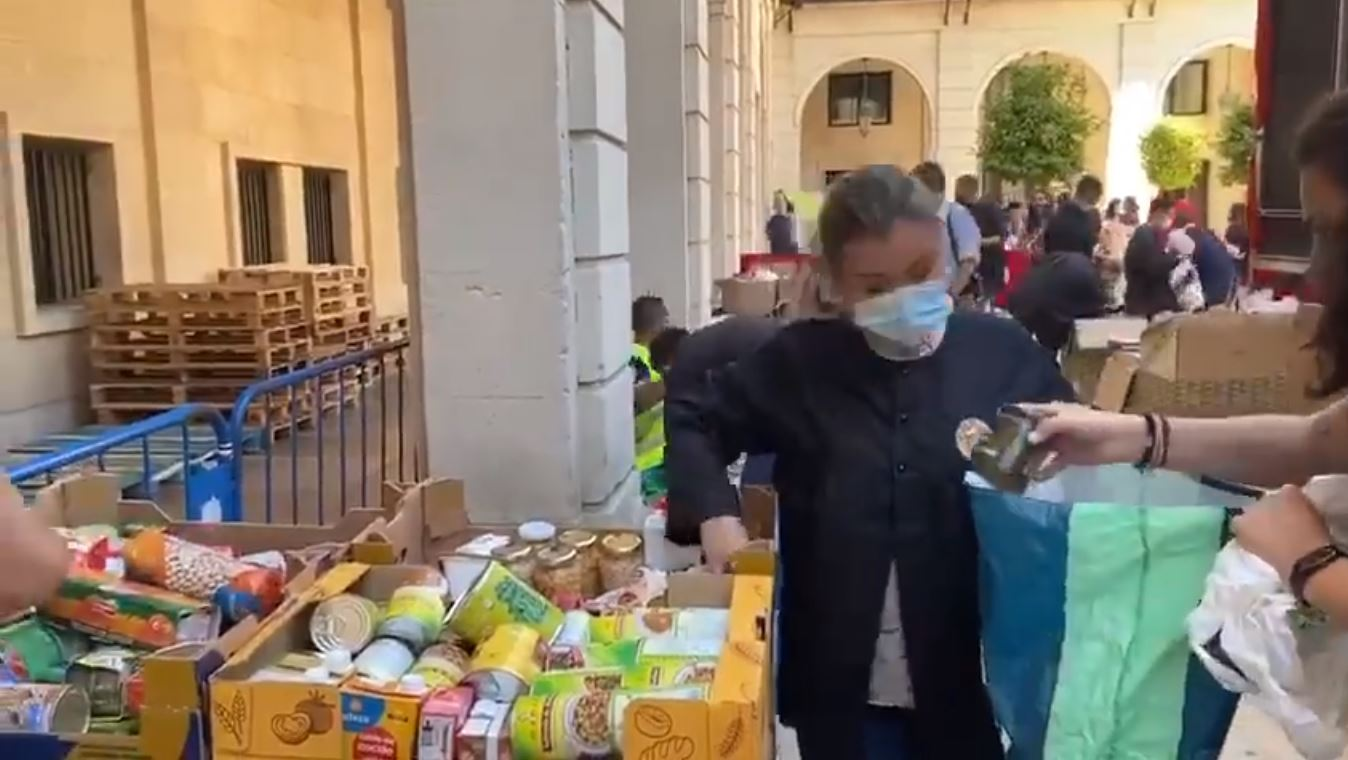 26 tonnes of donations given to support Alicante's citizens in need