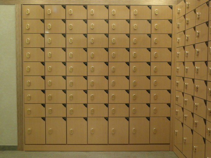 Locker room cubby for shoes