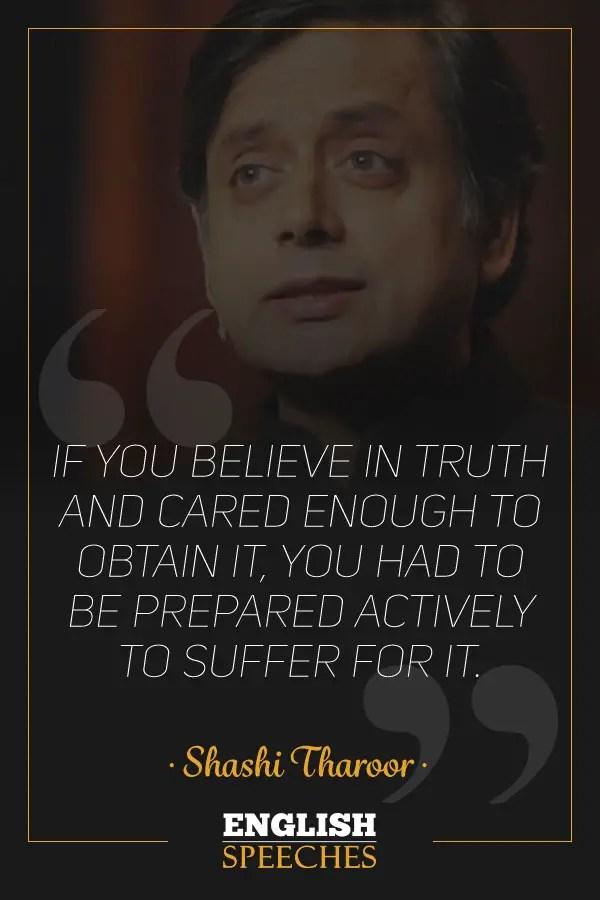 Shashi Tharoor Quote