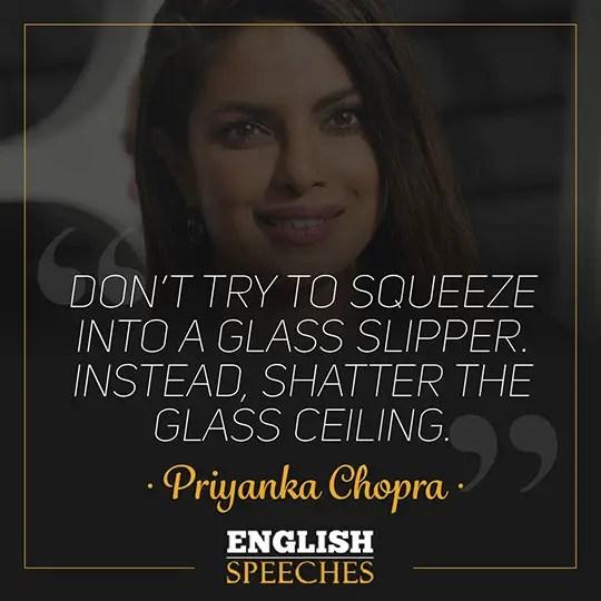 Priyanka Chopra Speech: Full Power of Women - English Speeches