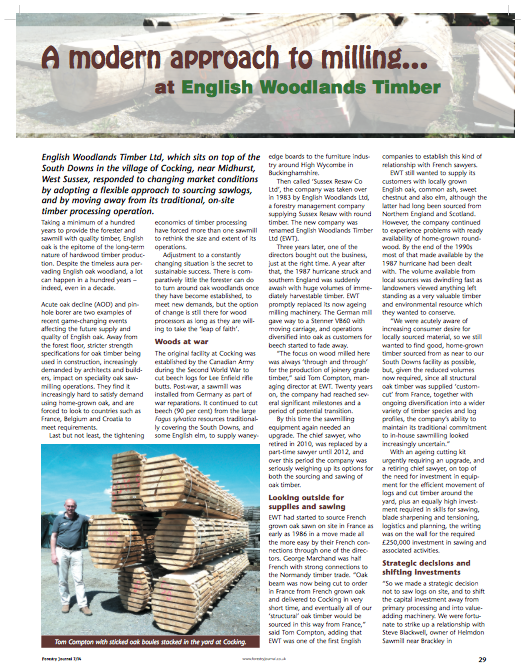 forest journal July 2014 a modern approach to milling