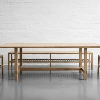 Colin Parker Furniture dining table and bench set