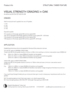 visual strngth grading of structural oak for framing and timber buildings