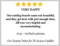 personalized acacia cutting boards - testimonials