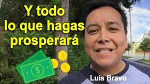 Lee más sobre el artículo Y todo lo que hagas prosperara – Luis Bravo