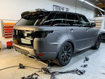 range rover gray and black film