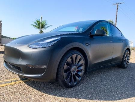 tesla 3 matt black film