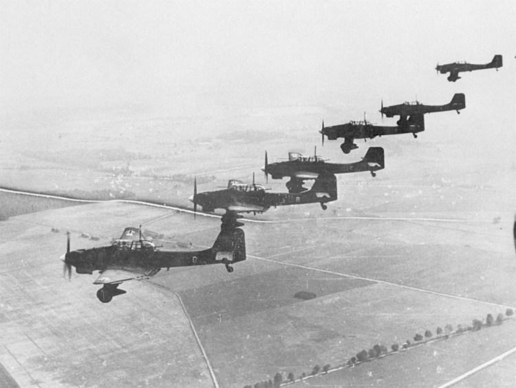 """Junkers Ju 87 """"Stukas"""" over Poland, September/October 1939"""