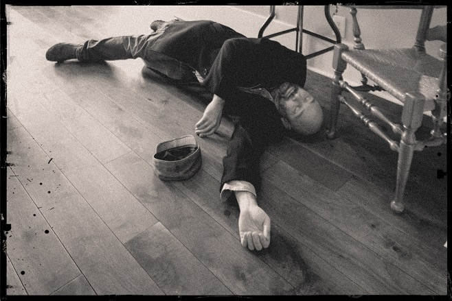 A person lying on the floor