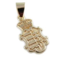 Hungarian coat of arms gold pendant Magyar Cimer necklace