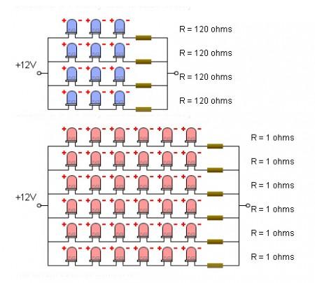 Circuito elettrico del pannello LED