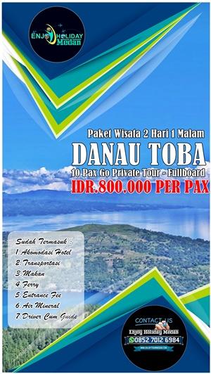 Brosur Paket Wisata Medan Danau Toba 2 Hari 1 Malam