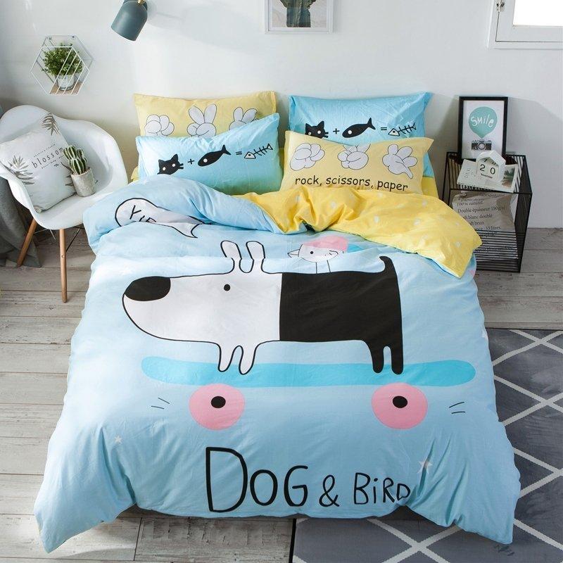 kids teen girls boys cute dog farm animal twin full size bedding sets