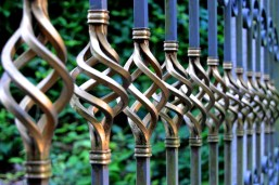 sturdy iron fence