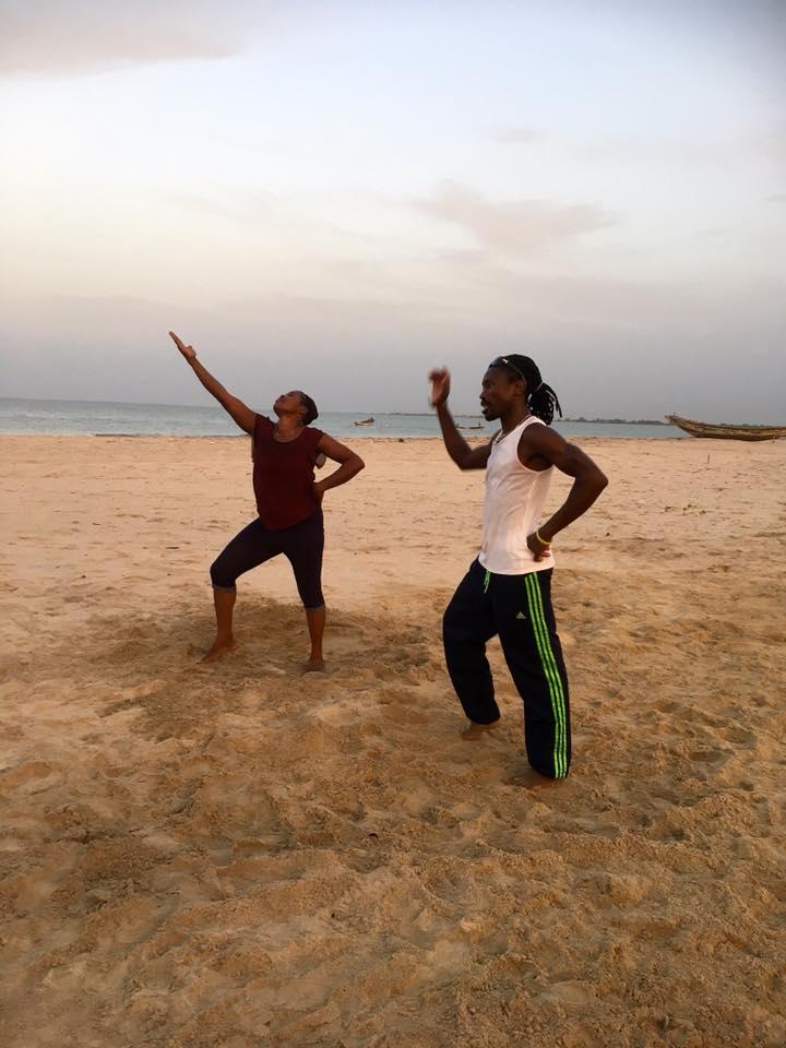 West African dance at Calypso Beach 3-15 January 2018
