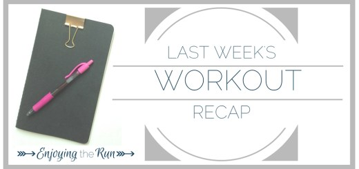 Workout Recap | Enjoying the Run