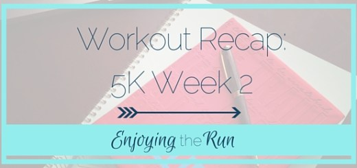 Workout Recap 5K Week 2 | Enjoying the Run
