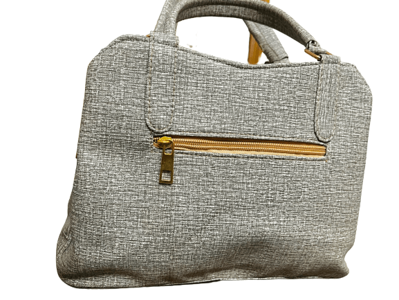 Ladies Embroidered Party Bag Ash & Gold mix color