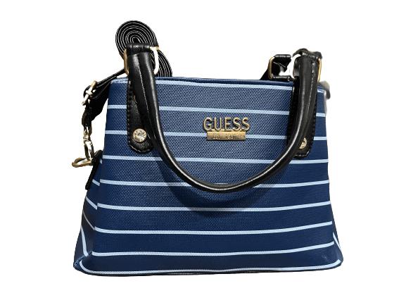 Ladies Casual Bag Navy Blue Stripe Color