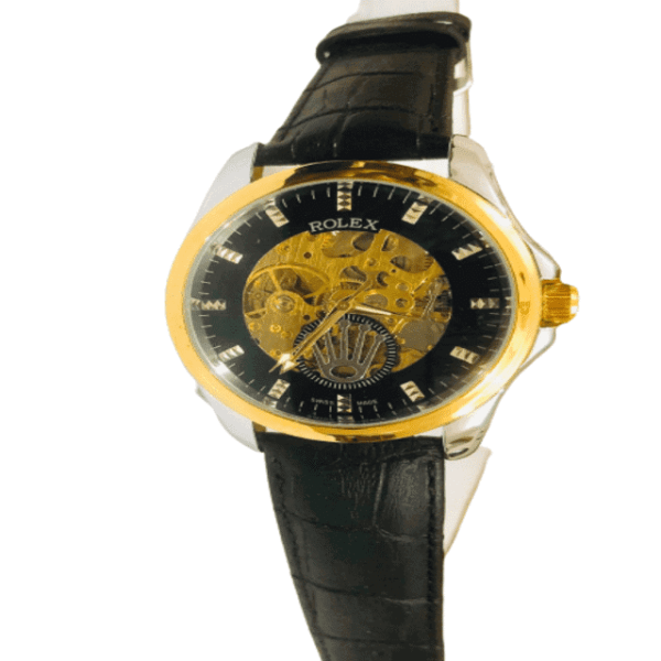 rolex-leather-automatic-watch-copy