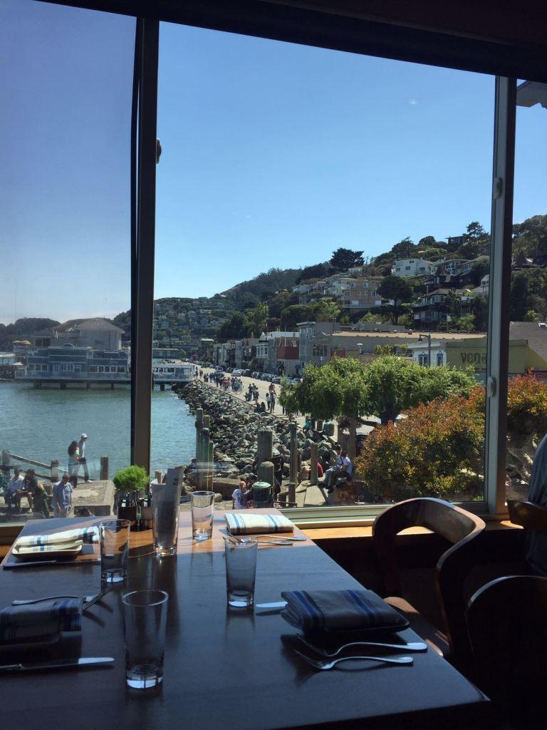 Vista do restaurante Barrel em Sausalito